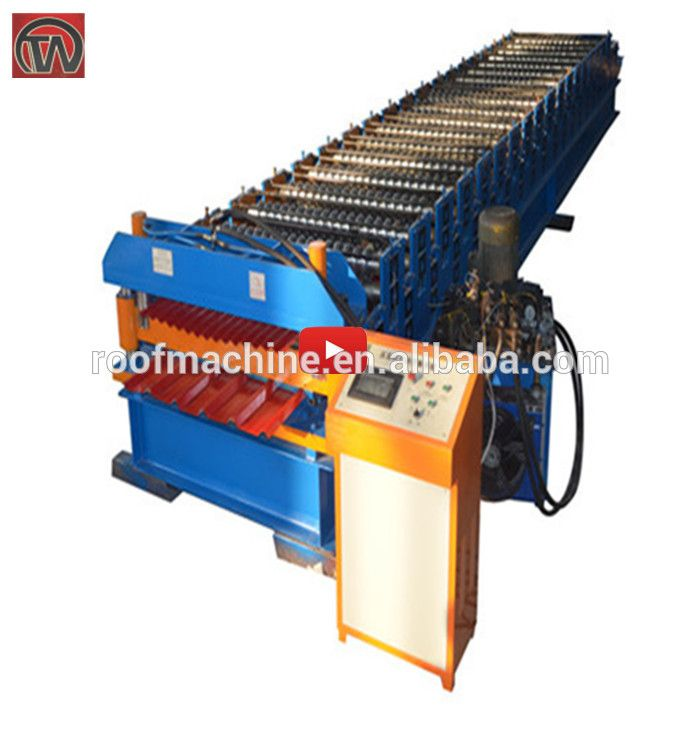 Ibr roof tile making machine roof sheet roll forming machine glazed molding rolling forming machine