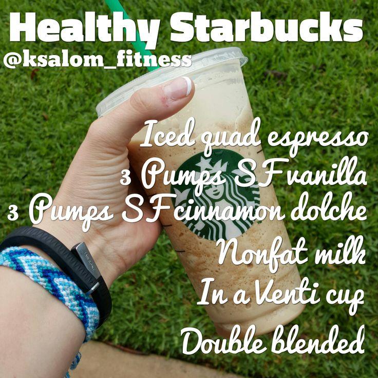 Healthy Starbucks drink. IcedLattesandLifting.com