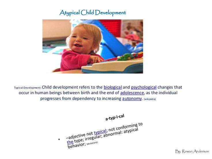 typical and atypical language development in early childhood Early brain development establishes a child's social competence, cognitive skills,  emotional  when supporting a family through the identification of an atypical   vary, children typically pass through these stages in the same sequence.