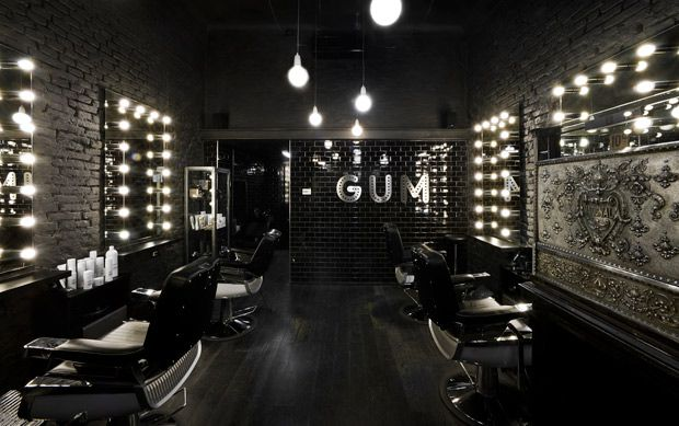 Wow is that cool! Looks like my new salon space. Lights r cool around mirror