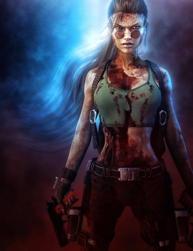 Lara Croft Tomb Raider Game Fan Art Raider Video Juego Series