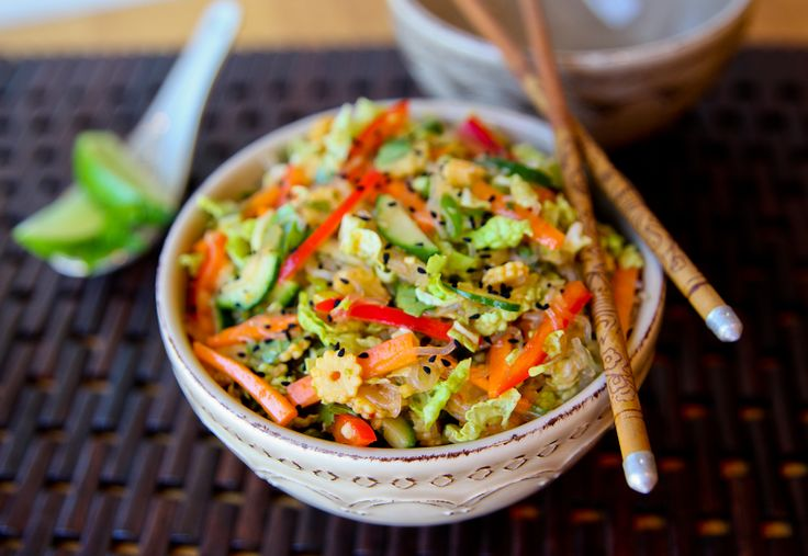 Inside Out Chinese Spring Roll Salad.  Looks Yummy!