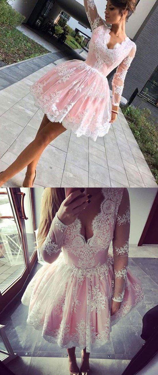 homecoming dresses,long sleeves homecoming dresses,v-neck homecoming dresses,short homecoming dresses,lace homecoming dresses,fashion homecoming dresses,