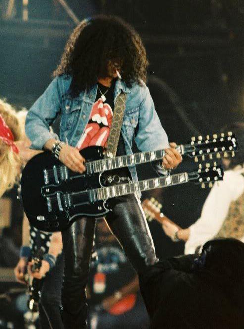 Slash, at The Freddie Mercury Tribute, 92