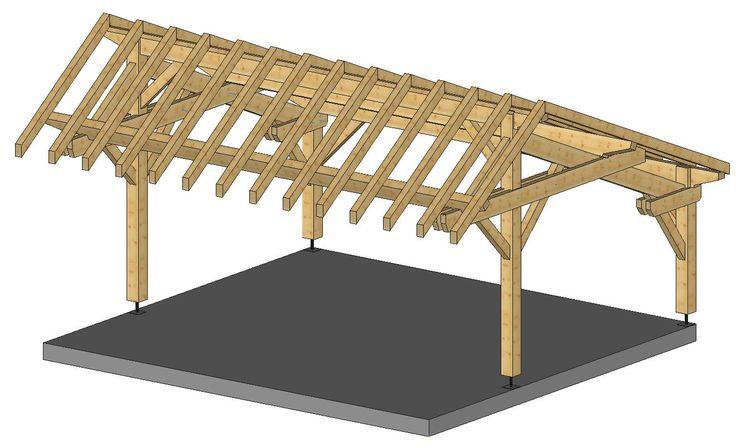 structure bois hangar - Recherche Google