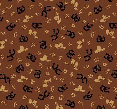 Western Print Flannel Fabric Cowboy Fabric Western