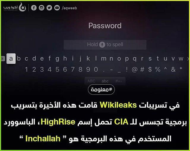 قامت في احد المرات ويكيليكس بتسريب مجموعة من البرمجيات التي تستخدمها الـ Cia في الإختراق من بينها برمجية Highrise الخاصة بإختراق رسائل Abc Spelling Hold On