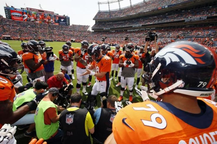Broncos vs. Ravens -  Updated September 13, 2015 7:52 PM By NEWSDAY.COM  Sports@Newsday.com - (Photo: Denver Broncos quarterback Peyton Manning rallies the team before an NFL game against the Baltimore Ravens Sunday, Sept. 13, 2015, in Denver.) -  The Denver Broncos defeated the Baltimore Ravens, 19-13, on Sunday, Sept. 13, 2015, at Sports Authority Field at Mile High in Denver.