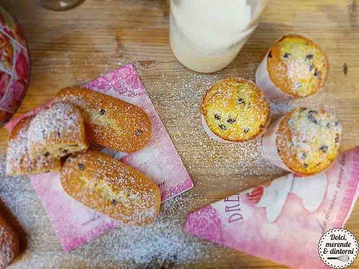 Plumcake e muffin con gocce di cioccolato