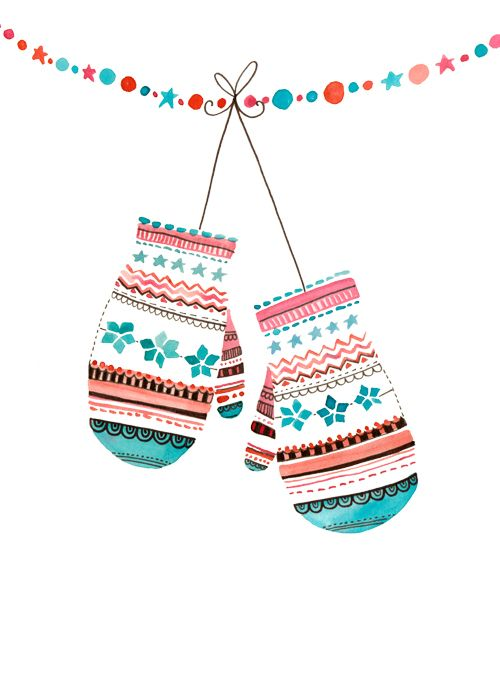 Christmas Mittens / felicity French