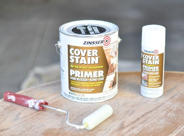 Tips for painting Stained Furniture - this is a Primer made to go over stain.