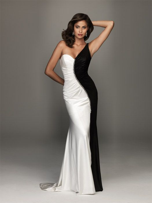 Best 25  Black and white evening dresses ideas on Pinterest ...