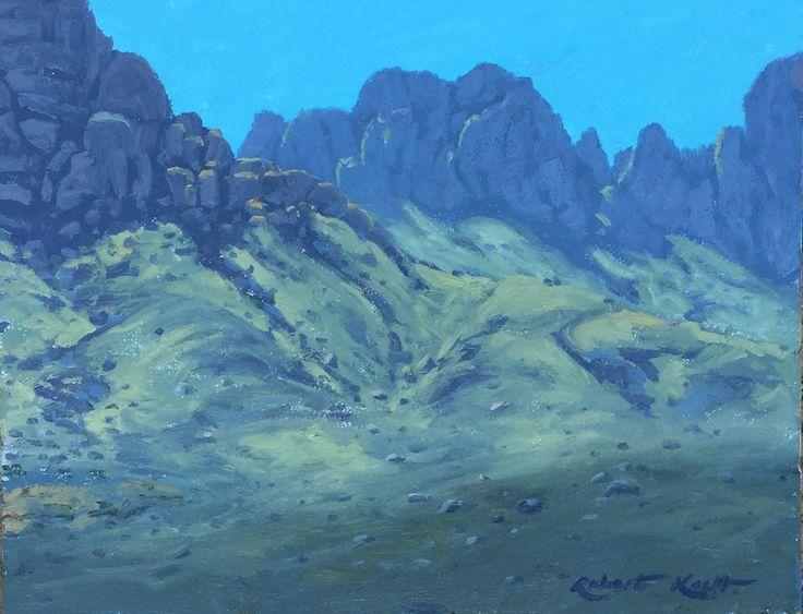 Shady cliffs Oil on cavas by Robert Koch