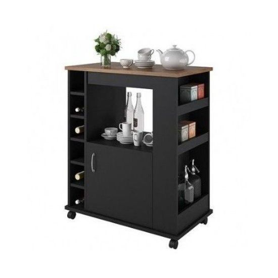 Overstock Altra Black Stipple Kitchen Beverage Cart