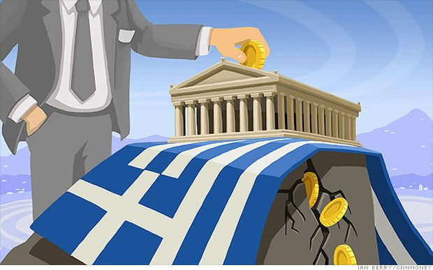 Wall Street bets on 75% chance of Greek default