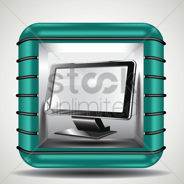 monitor vector graphic