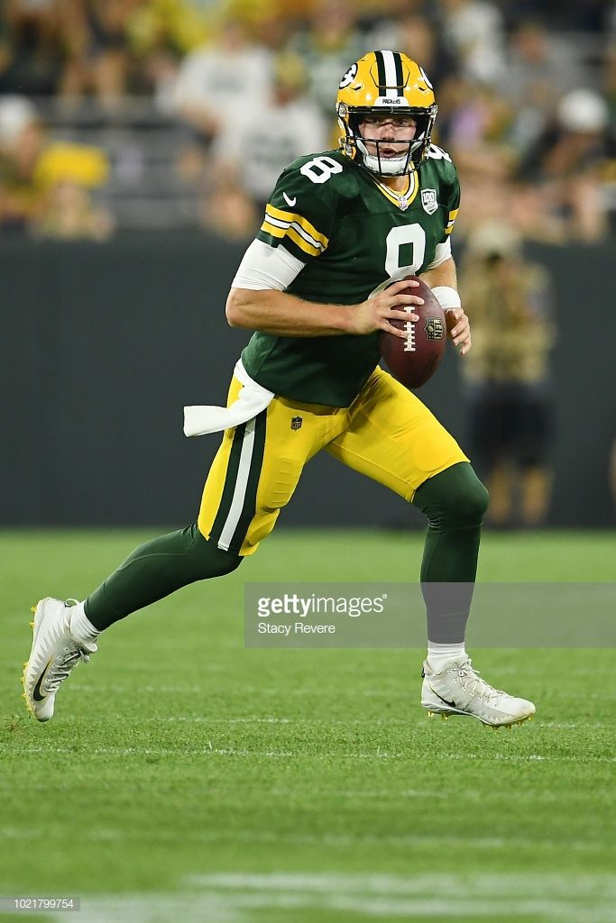 best authentic 73097 ca1e7 Tim Boyle of the Green Bay Packers looks to pass during a ...