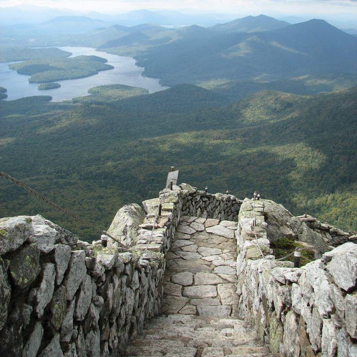 Whiteface Mountain steps Wilmington Sure, you know about skiing at Whiteface, but go there in the summer and you'll see a whole lot more green faces and spectacular views from its summit steps.