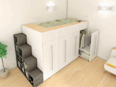 ARCHEA LES AS DU PLACARD - Le rangement sur-mesure - Lit mezzanine - La solution petits espaces - Le guide de la déco