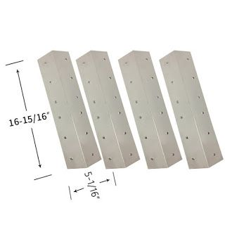 Grillpartszone- Grill Parts Store Canada - Get BBQ Parts,Grill Parts Canada: Coleman Heat Shield | Replacement 4 Pack Stainless...