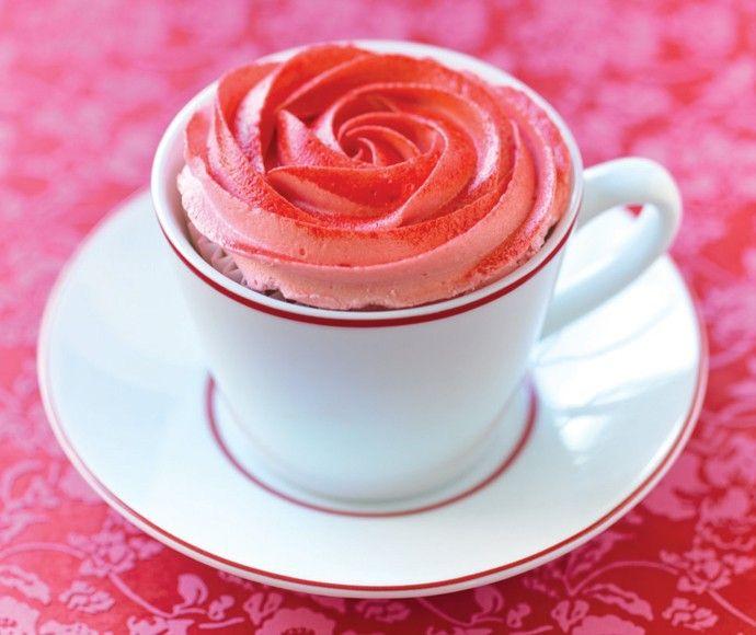 Bloemencupcake Una manera especial de servir el té y tarta - delicioso!