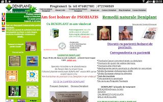 PSORIAZIS-CORESPONDENTA  DENIPLANT: Psoriazis tratament