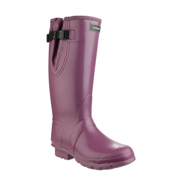 Cotswold Wellingtons - Kew wellington unisex with 3mm Neoprene lining.  Purple. Size: 3