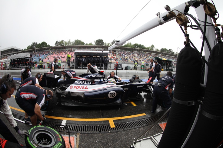 Williams F1 Pit stop at the German GP, 2012
