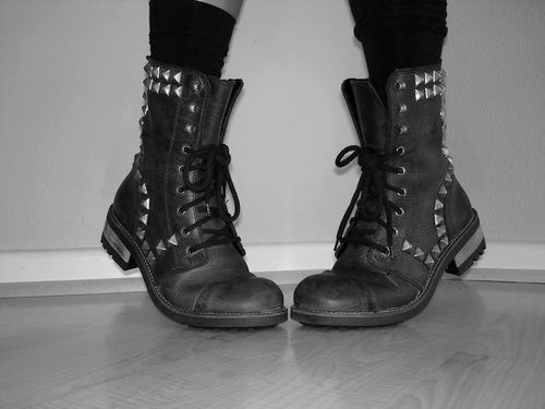 punk rock boots #boots #lace #punk