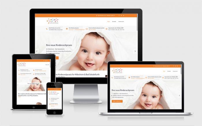 Responsive Webdesign für neue Kinderarztpraxis Hildesheim - Bad Salzdetfurth