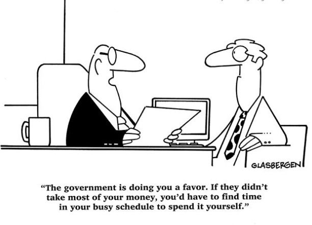 Tax = a necessary evil