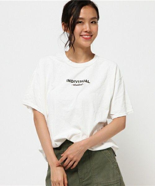 Factor=(ファクターイコール)の「Factor= 製品染め加工 ロゴ刺繍BIGTシャツ(Tシャツ/カットソー)」|詳細画像