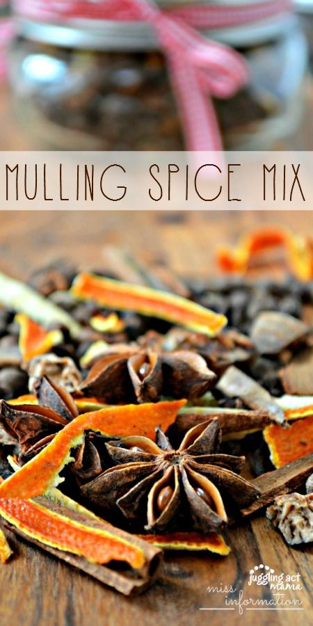 Homemade Mulling Spice Mix makes a great warm drink or use it to simmer and make your home smell wonderful during the holidays
