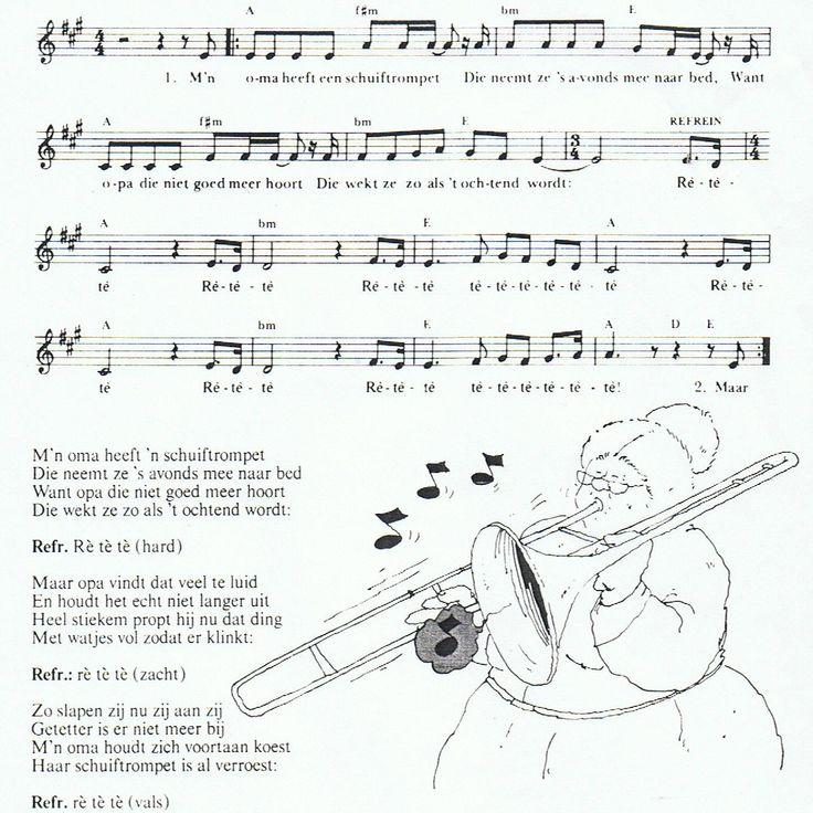 Liedje: mijn oma heeft een schuiftrompet