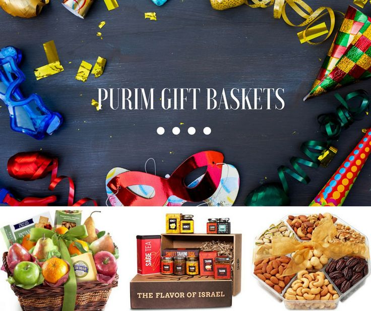 Discover creative Mishloach Manot basket ideas & themes. Make Purim 2017 more delightful for your family & friends with these delicious Kosher gift baskets #MishloachManotIdeas #PurimGiftBaskets
