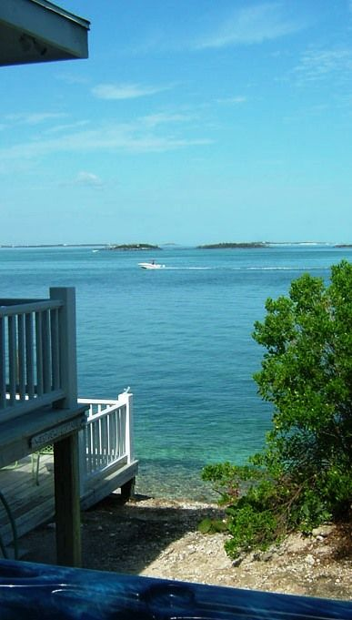 Lighthouse Marina, Hope Town, Abaco, Bahamas - view from the hot tub