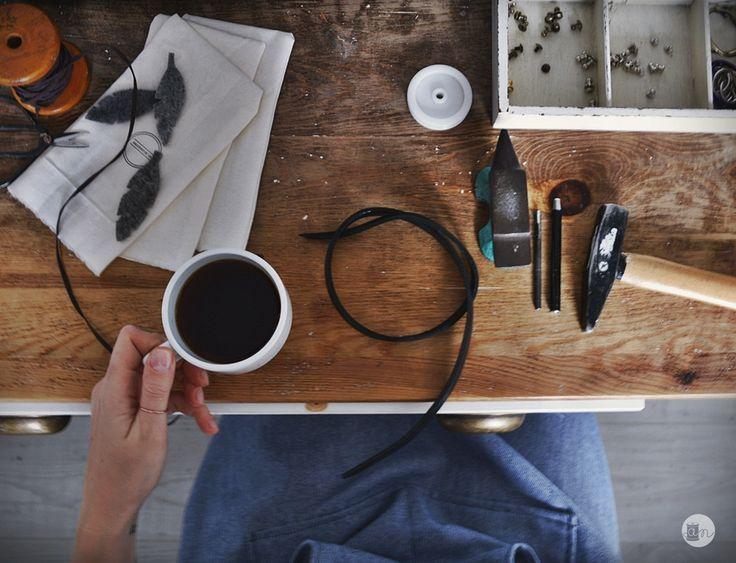 black coffee work tools  creative space