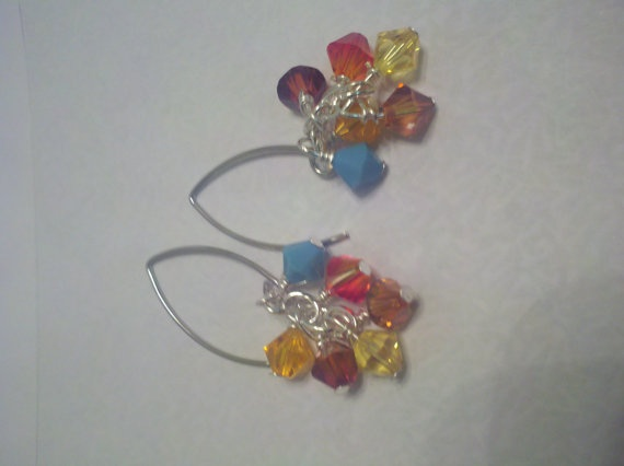 Sonoran Sunrise Earrings Multi Colored Earrings by ShiningCrystals, $8.50Sunrises Earrings, Sonoran Sunrises, Sunris Earrings