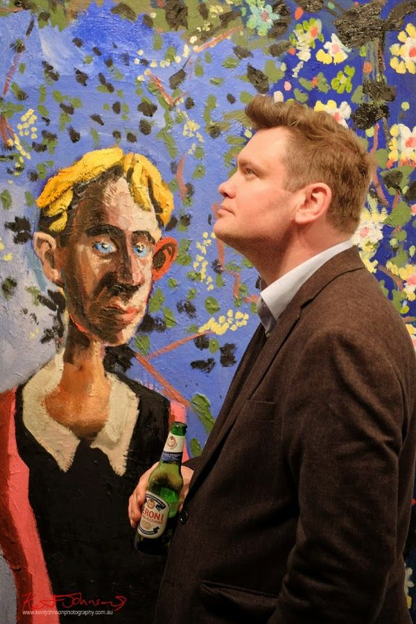 Portrait of the artist McLean Edwards at Martin Browne Contemporary - Kent Johnson for Street Fashion Sydney.