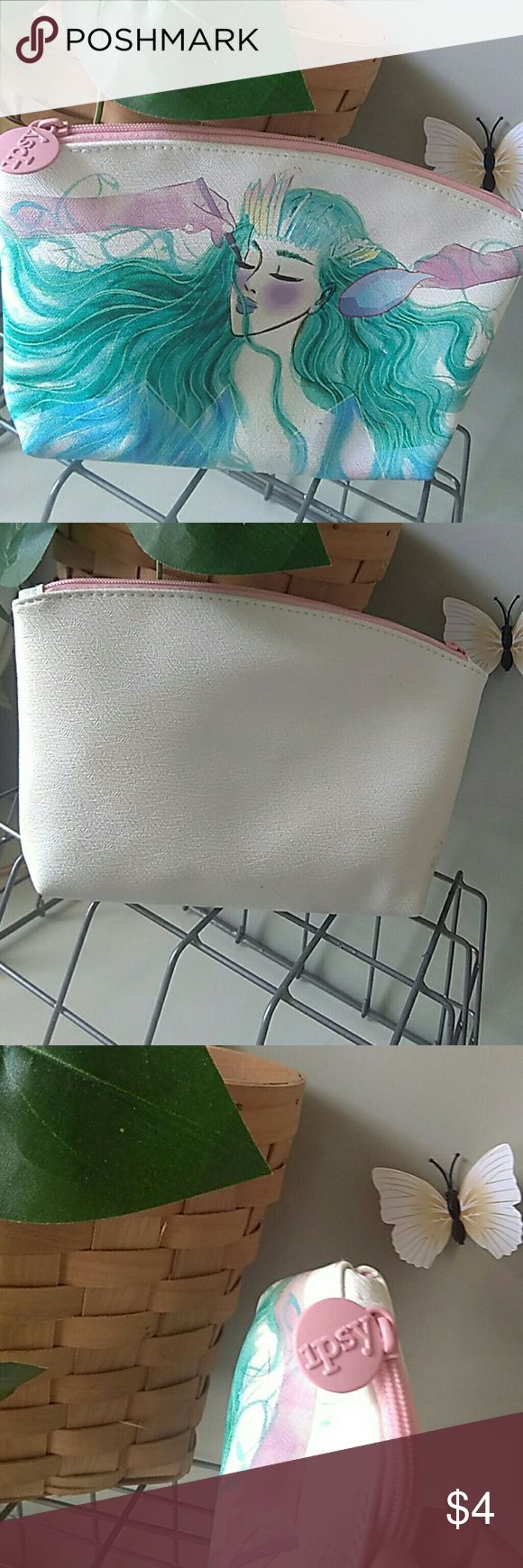 Make-up bag Small make-up bag.. white, woman design on front Ipsy Bags Cosmetic Bags & Cases