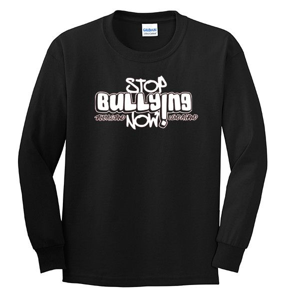 Stop bullying sign black and white dresses