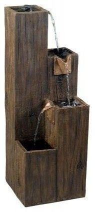 Timber indoor/outdoor fountain