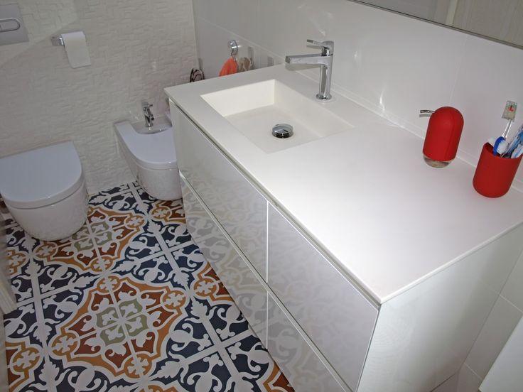 Cuarto de baño baldosa hidraulica