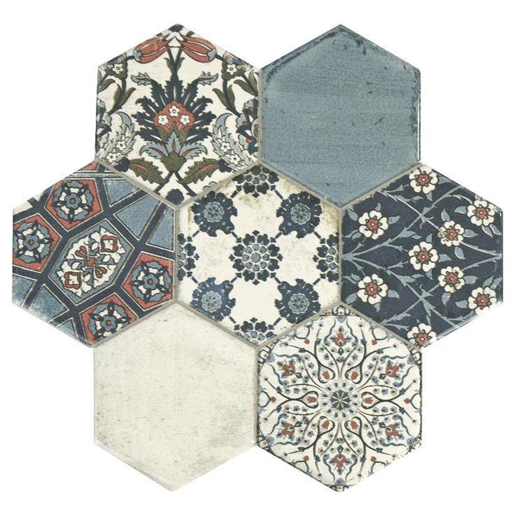 Carrelage Hexagonal Sol Mur Interieur En Gres Cerame 15x15