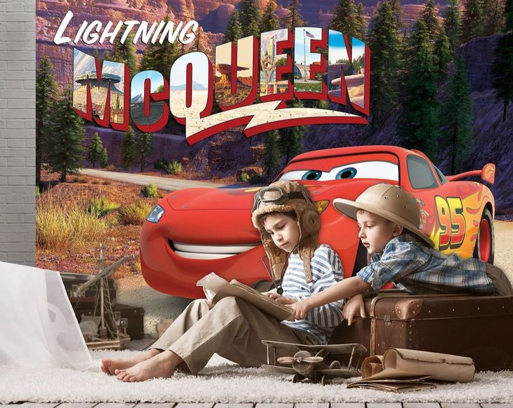 Giant Size Wallpaper Mural For Girlu0027s Bedroom. Disney Cars Lightning  McQueen Wall Decoration Ideas. Part 67