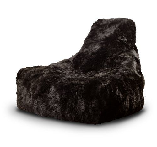 Mighty 100% Sheepskin Fur B-bag Indoor Bean Bag. More than just a Bean Bag this is an EXTREMELY COMFORTABLE piece of furniture - 4 colours to choose from (Brown)