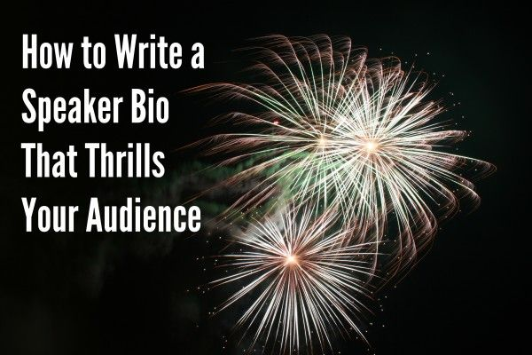 How to write a bio for motivational speaker