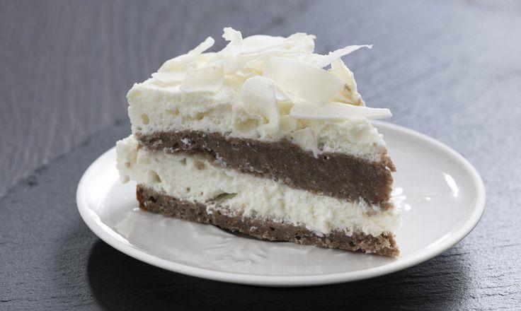 Kokosový dort s čokoládovým korpusem