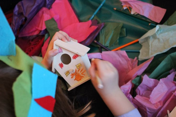 Paper Hat Projects, fairy house making