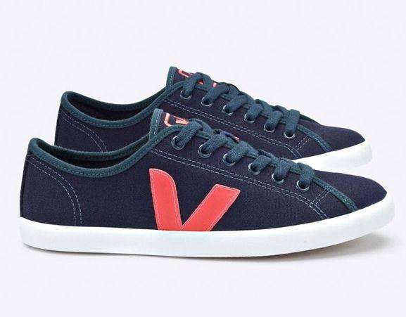 VEJA - Taua. Nautico orange fluo. Women's sneakers. Made in Brazil.